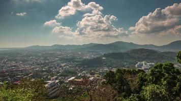 thailand summer day phuket town monkey hill panorama 4k time lapse