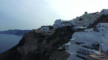 Sea, white and blue in OIA city video
