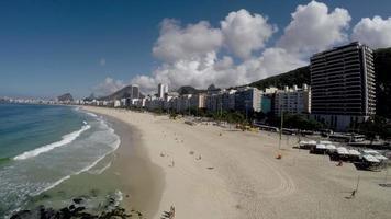 Aerial view of Copacabana, famous beach at Rio de janeiro, Brazil