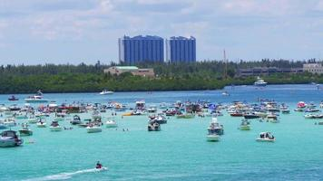USA miami beach giornata estiva haulover gulf yacht park 4k florida video