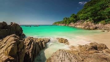 thailand summer day phuket island famous beach panorama 4k time lapse video