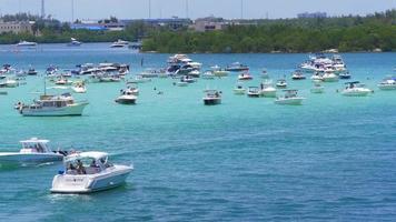 Estados Unidos miami beach día de verano golfo lugar de estacionamiento de yates 4k florida