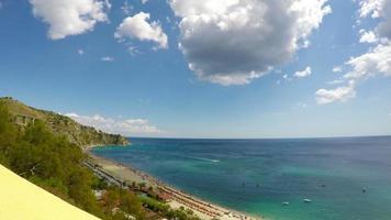 mar, escena de la naturaleza, caminia, calabria, tiempo real, 4k