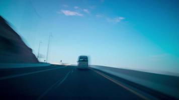 Sonnenuntergang Roadtrip Zeitraffer von al ain uae