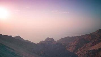 Sonnenuntergang Berg Zeitraffer von VAE