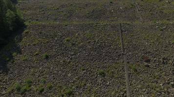 Foto aérea de 4k da represa e do lago Oasa video