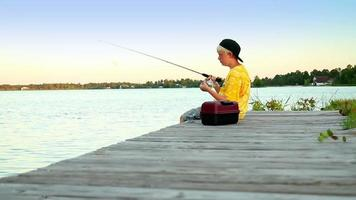 Boy Fishing video