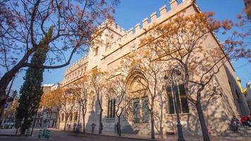 Spagna sole luce valencia seta cambio edificio 4k lasso di tempo