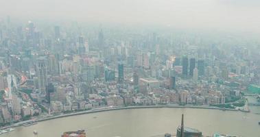hermosa vista de shanghai - bund o waitan waterfront en la noche video