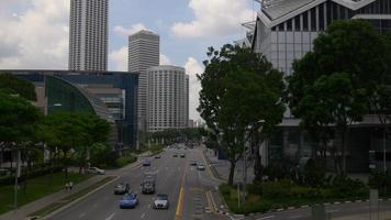 Singapour tombolas ave suntec city mall marina square trafic bridge panorama