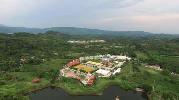 Luftaufnahme bei Buddha Phuttha Utthayan Makha Bucha Anusorn, Thailand