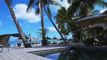 4K Paradise island hotel in Mauritius video