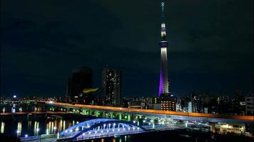 Video 4k timelapse de la torre skytree de tokio