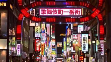 Shinjukus Kabuki-Cho-Distrikt in Tokio video