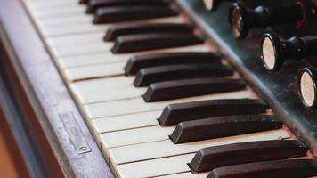 Antique Organ Keyboard - Close Up