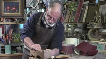 carpenter working in his workshop video