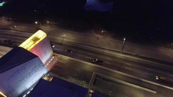 video drone aéreo puerto miami tunel
