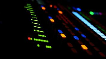 Close Up Of Electronic Mixing Console