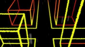 4k vj loop ciudad calle lluvia luz partículas fondo video