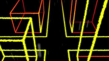 4K VJ loop city street rain light particles background video