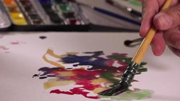 artista pittura pitture ad acquerello video