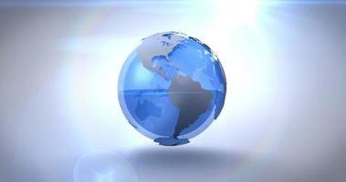 terra blu rotante