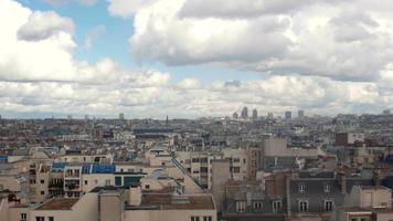 Paris center view with clouds video