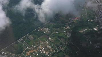 vista aérea del paisaje urbano video