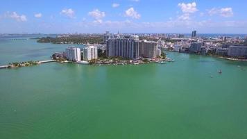 video aéreo de la isla belle