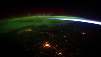 vista sulla terra dallo spazio 4k