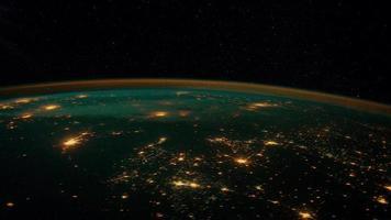 Blick auf die Erde aus dem Weltraum 4k video