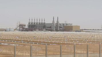 lumière du jour de la centrale solaire des eau 4k