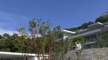 Tailândia, durante o dia, villa privada de luxo, panorama 4k phuket island video