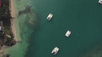 foto aérea das Ilhas Maurício e do Oceano Índico video