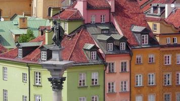 het oude stadsplein van Warschau, Polen