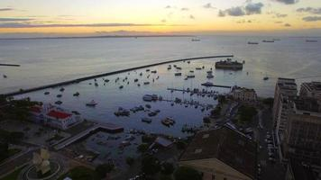 Aerial View of All Saints Bay in Salvador, Bahia, Brazil video