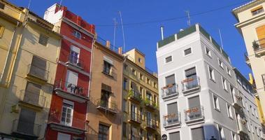 centro storico di valencia living block tops 4k spagna 4k