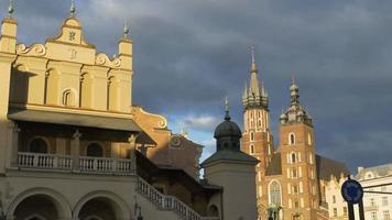 edifici nel centro storico di Cracovia