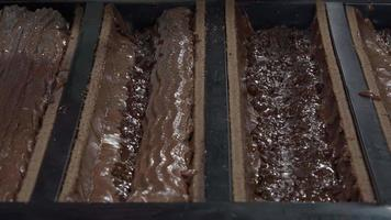 Preparation of a Yule log, pear and praline video
