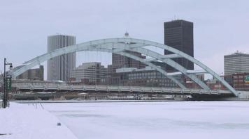 Rochester Bridge im Winter