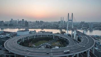 paisaje urbano de Shanghai, lapso de tiempo de 4 k video