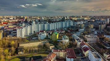 belarus minsk day light cityscape roof top panorama 4k time lapse