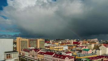 belarus storm sky city center roof top panorama 4k time lapse minsk
