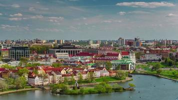 belarus minsk ensolarado nemiga city river old town bay 4k time lapse