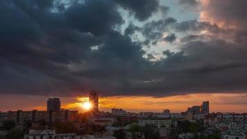 bielorrússia sunset sky city center roof top panorama 4k time lapse minsk