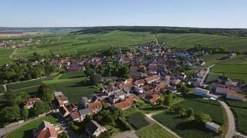 champagne, parco regionale delle montagne de reims, veduta della ville dommange video
