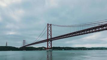 Cloudscape on the 25 de Abril Bridge in Lisbon