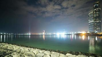 night light panoramic time lapse from abu dhabi video