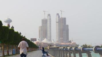 costruzione di hotel bayfamous di abu dhabi 4k emirati arabi uniti