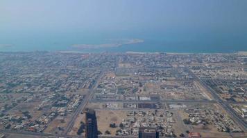 Zeitraffer der höchsten Gebäudeansicht auf Dubai City